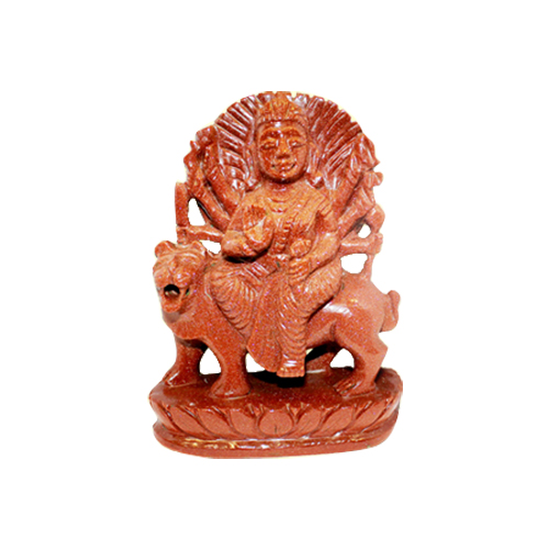 Durga Maa In Sunstone (Gems Murtis)-GEM-DUR002